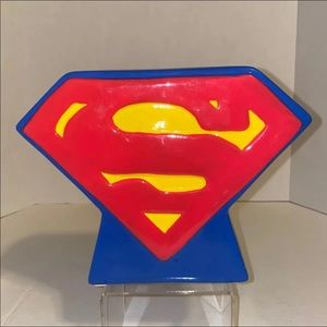Superman Logo Ceramic Coin Bank
